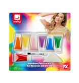 Regenboog make up kit