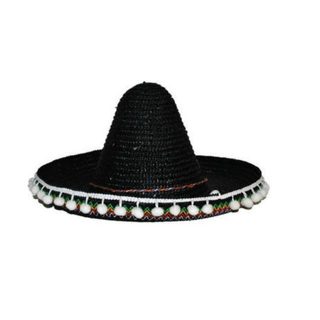 Mexicaanse sombrero kind zwart