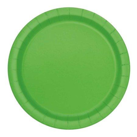 Bordjes Lime Groen 20 Stuks - 18 cm