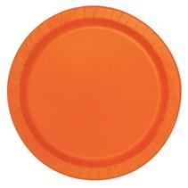 Bordjes Oranje 20 Stuks - 18 cm