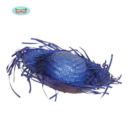 Strohoed Hawaii Blauw