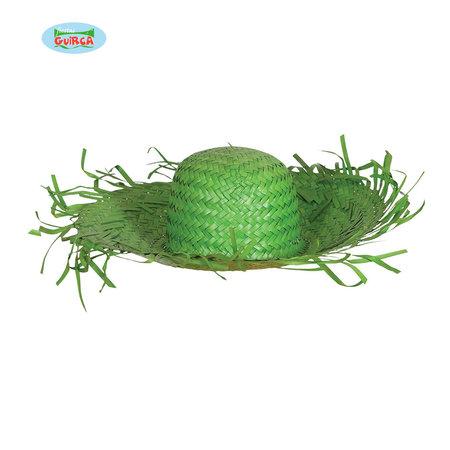 Strohoed Hawaii groen