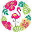 Gebaksbordjes Aloha flamingo (8 st)