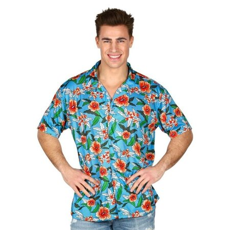 Hawaii Blouse Tropical Blauw