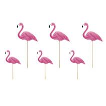 Toppers Flamingo set 6 stuks