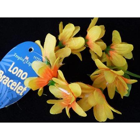 Hawaii armband/haarelastiek geel