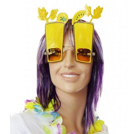 Hawaii feestbril coctail geel