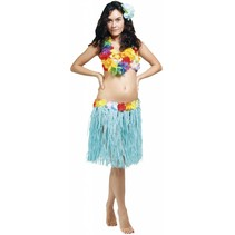 Hawaii rok blauw 45 cm