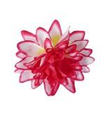 Haarbloem Dahlia Roze/wit