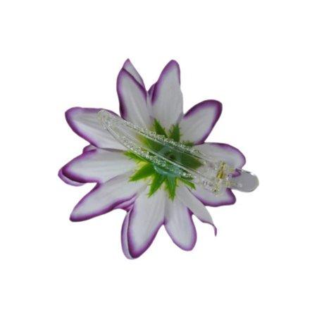 Haarbloem Dahlia Wit/Paars