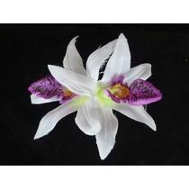 Hawaii haarbloem Wit/Violet