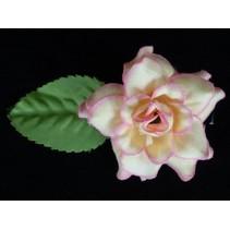Haarbloem Roosje Geel/Roze