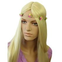 Haarband Roosjes Roze/Groen