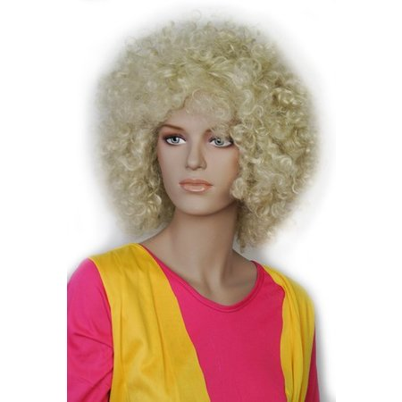 Afro Pruik Blond Barkley