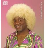 Pruik Afro blond extra krul elite