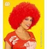 Pruik Afro rood extra krul elite