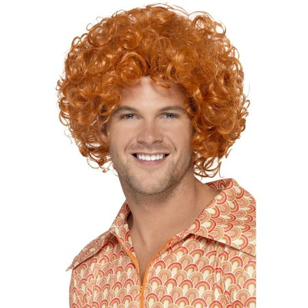 Curly Afro Ginger pruik