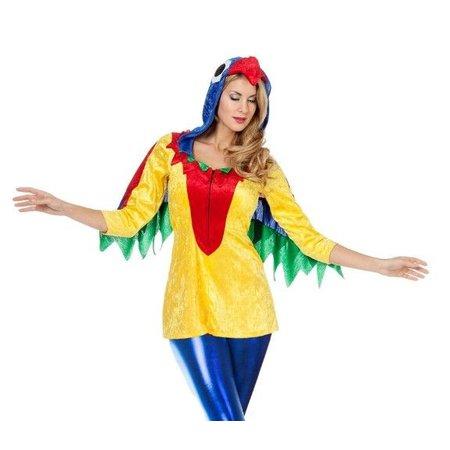 Papegaaien vest vrouw