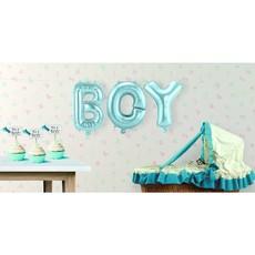 Set baby blauwe folie ballonnen 'Boy'