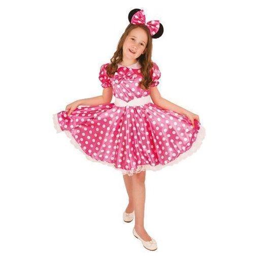Minny mouse kostuum kind roze