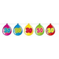 Vlaggenlijn ballonnen 30 jaar