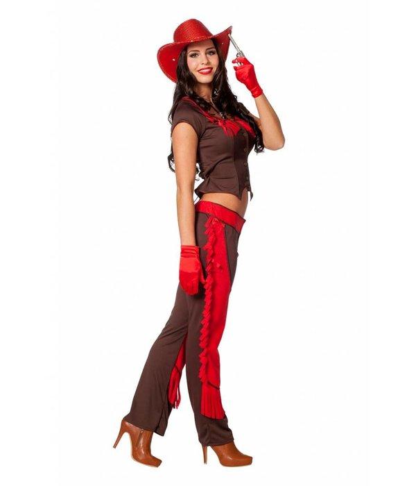 Stoere Cowgirl kostuum dames