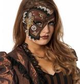 Luxe halve masker steampunk