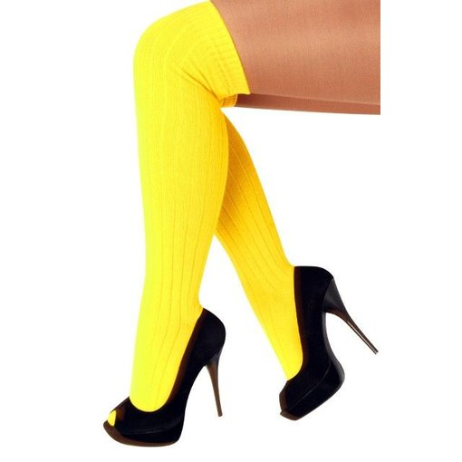 Kniekousen fluor geel