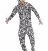 Zebra carnavalspak man/vrouw
