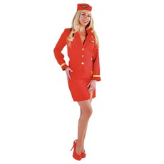 Stewardess kostuum luxe rood