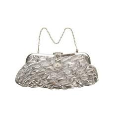 Tasje zilver met korte en lange ketting
