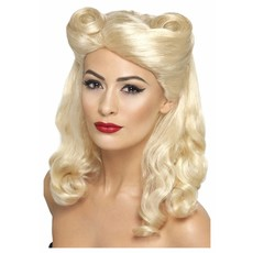 40's Pin-Up pruik blond