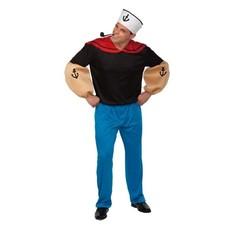 Gespierde Popeye matrozen kostuum