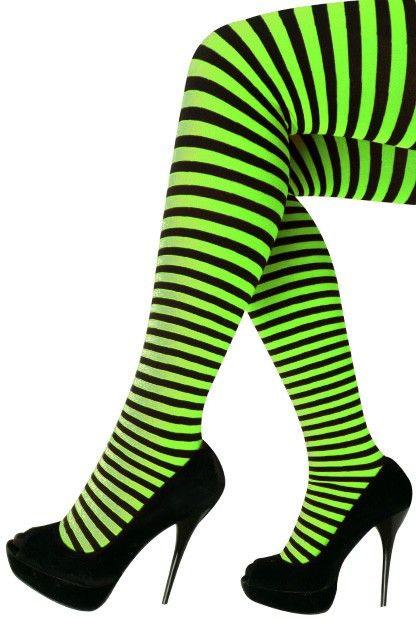 Panty streep groen/zwart