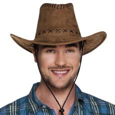Hoed Cowboy Elroy bruin lederlook