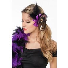 Haarclip met kralen paars