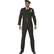 Wartime Officier kostuum man