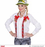 Tiroler bretels edelweis rood