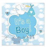 Servetten it's a boy geboorte jongen
