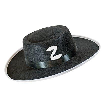 Zorrohoed zwart vilt kind