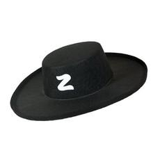 Zorro hoed zwart volwassen
