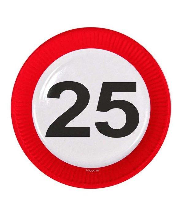 25 Jaar Verkeersbord Borden - 8 stuks