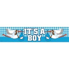 Geboorte jongen gevelbanner 'It's a boy'