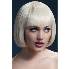 Professionele pruik blond kort Mia