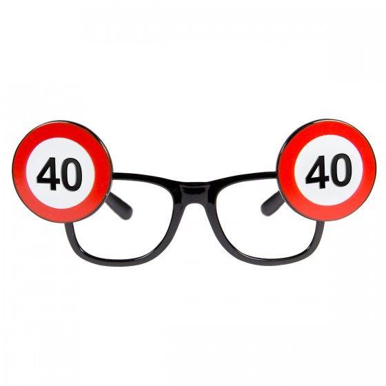 Bril verkeersbord 40 jaar