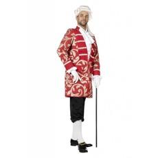Piratenjas man ecru/rood