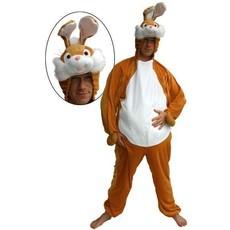 Kostuum konijn pluche met buik