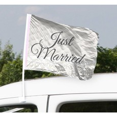 Just Married Bruiloft Autovlag