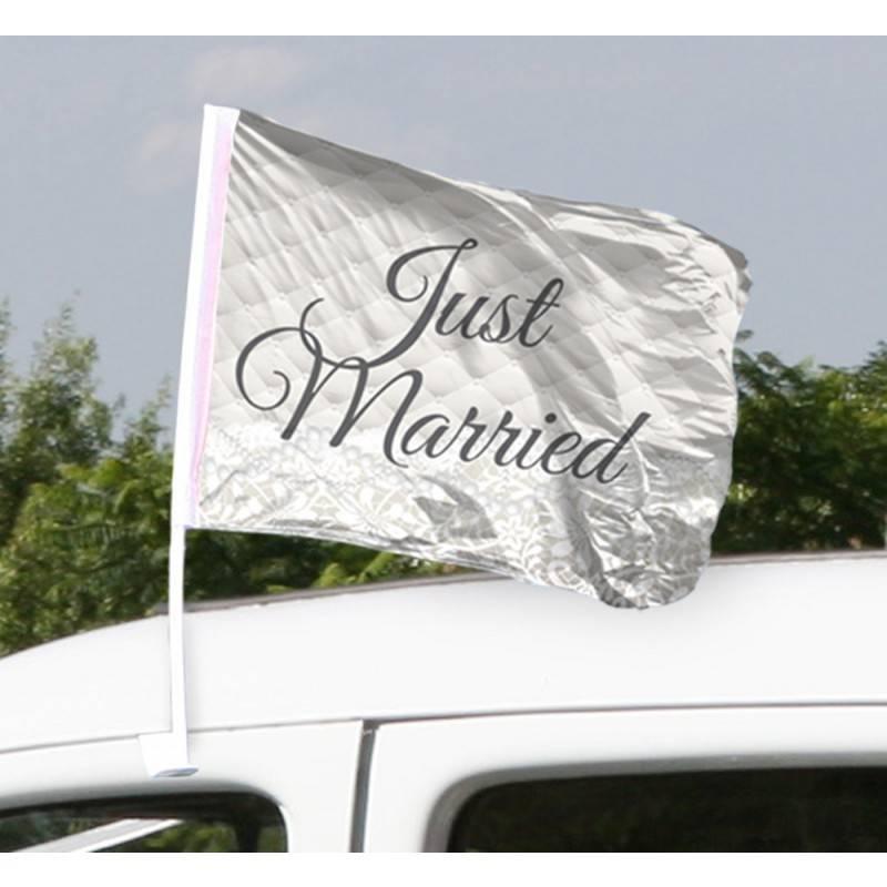 Just Married Bruiloft Autovlag