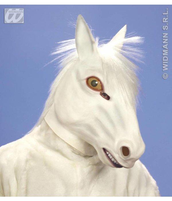 Masker wit paard met haar